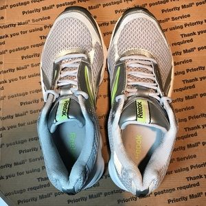 a87dfeb0926 Reebok Shoes - Reebok RunTone Silver   Green Reflective Running 9